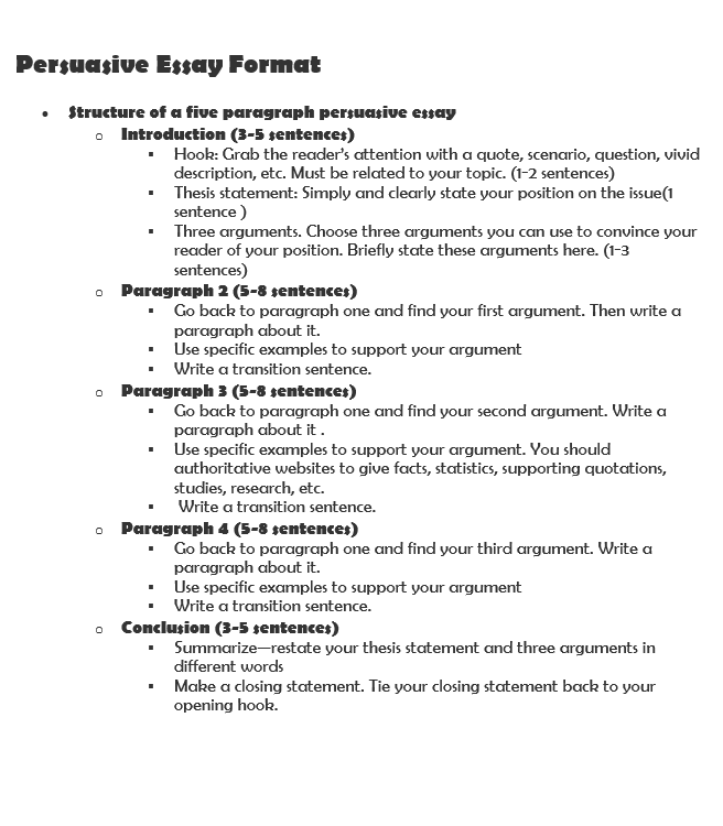 how to write a persuasive essay  with examples